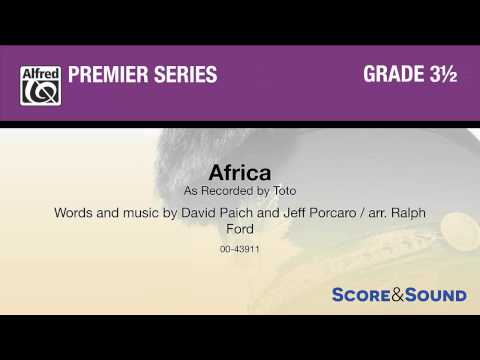 Africa, arr Ralph Ford – Score & Sound