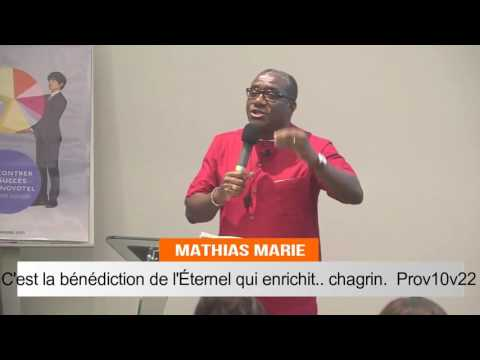 C'est la bénédiction de l'Éternel qui enrichit, .. chagrin. Mathias MARIE