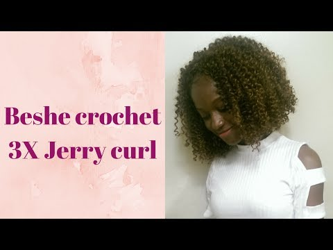 beshe Brazilian jerry curl crochet hair / 3x beshe jerry curl from YouTube · Duration:  6 minutes 34 seconds