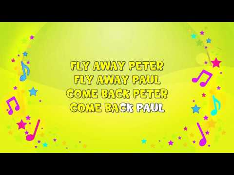 Two Little Dicky Birds | Karaoke | Nursery Rhyme | KiddieOK