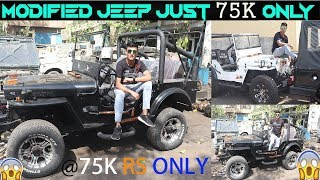 Jeeps Market | Custom Modified | Jeep Rs75k only/- Thar, Gypsy, Ambassador In Cheap Price