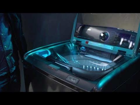 Samsung S New Washing Machine Has A Built In Sink Youtube