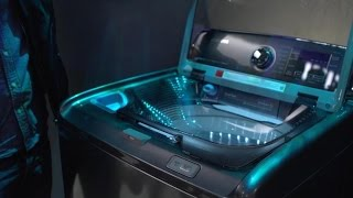 Samsung's new washing machine has a built-in sink