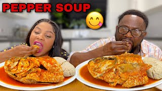 PEPPER SOUP with ROUGH FISH Extreme One Bite Eating Challenge | Big Bite Eating Competition