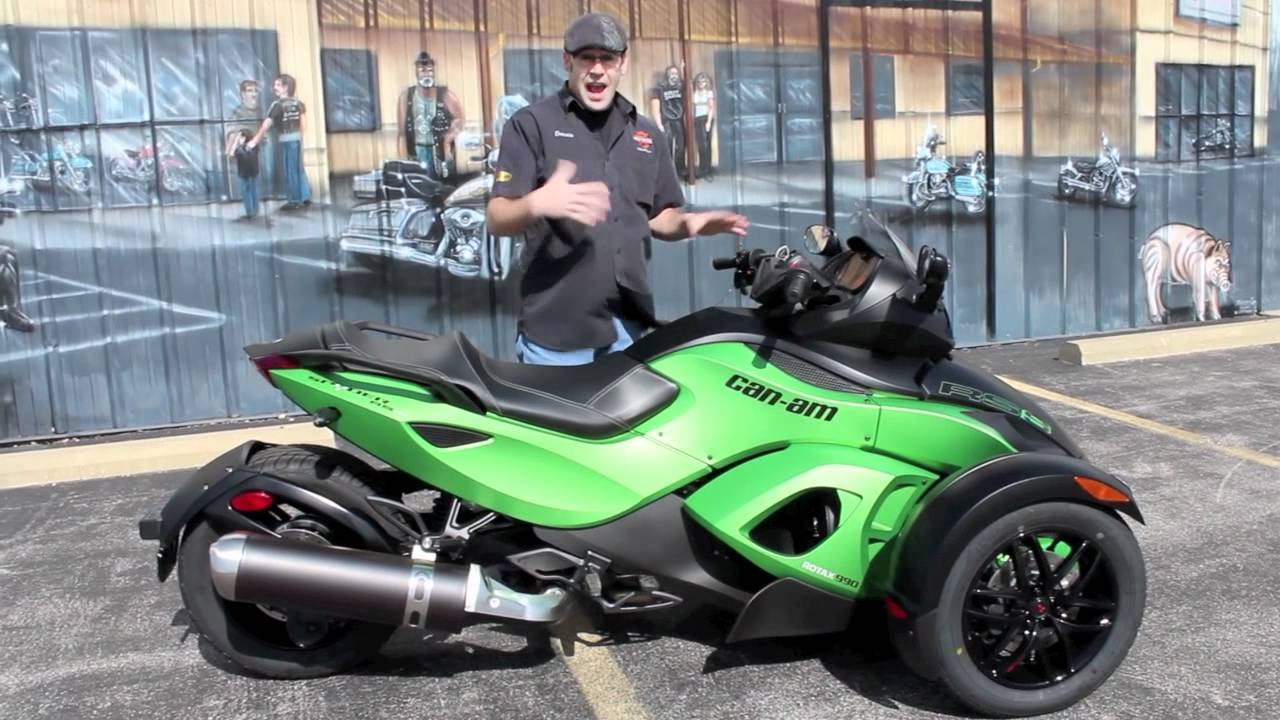 Can Am Spyder For Sale >> Can-Am Spyder RS S in Neutron Green Metallic - YouTube