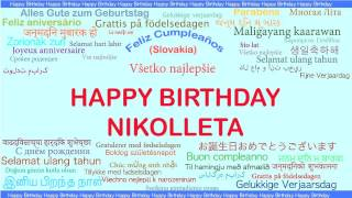 Nikolleta   Languages Idiomas - Happy Birthday