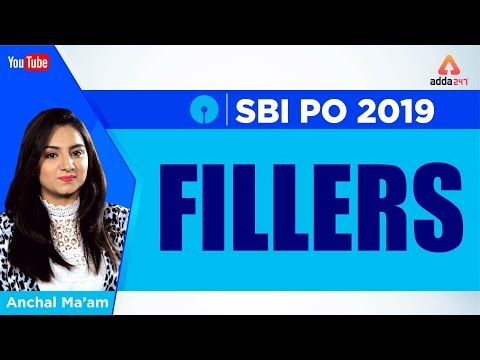 SBI PO 2019 | Fillers | English | Anchal Ma'am | 10 A.M