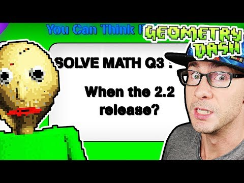 Baldi's Basics In Geometry Dash!? THIS REMAKE IS INSANELY COOL