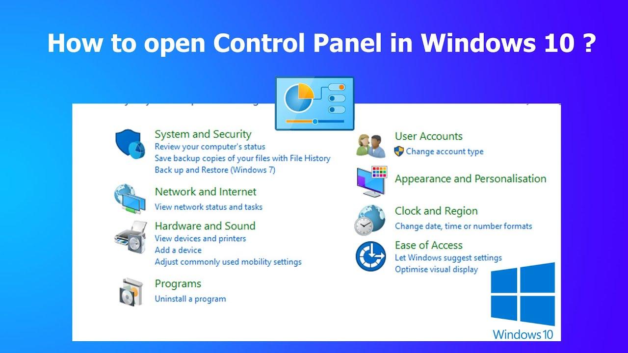 Cách 8 hướng dẫn Để Mở Control Panel trong Win 8, hệ điều hành 10