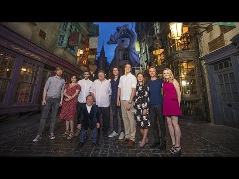The Cast of Harry Potter Reunites in Diagon Alley
