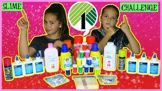 "DOLLAR TREE SLIME CHALLENGE "" MAKING SLIME USING $1 INGREDIENTS ONLY ""SISTER FOREVER"""