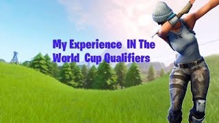 MY EXPERIENCE IN THE WORLD CUP QUALIFIERS...