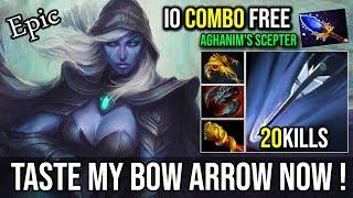 Taste My Bow [Drow Ranger] Insane Hit Like a Truck With Free Scepter IO Combo 21KIlls | DotA 2