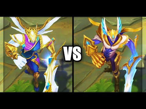 Victorious Aatrox vs Justicar Aatrox Skins Comparison (League of Legends)