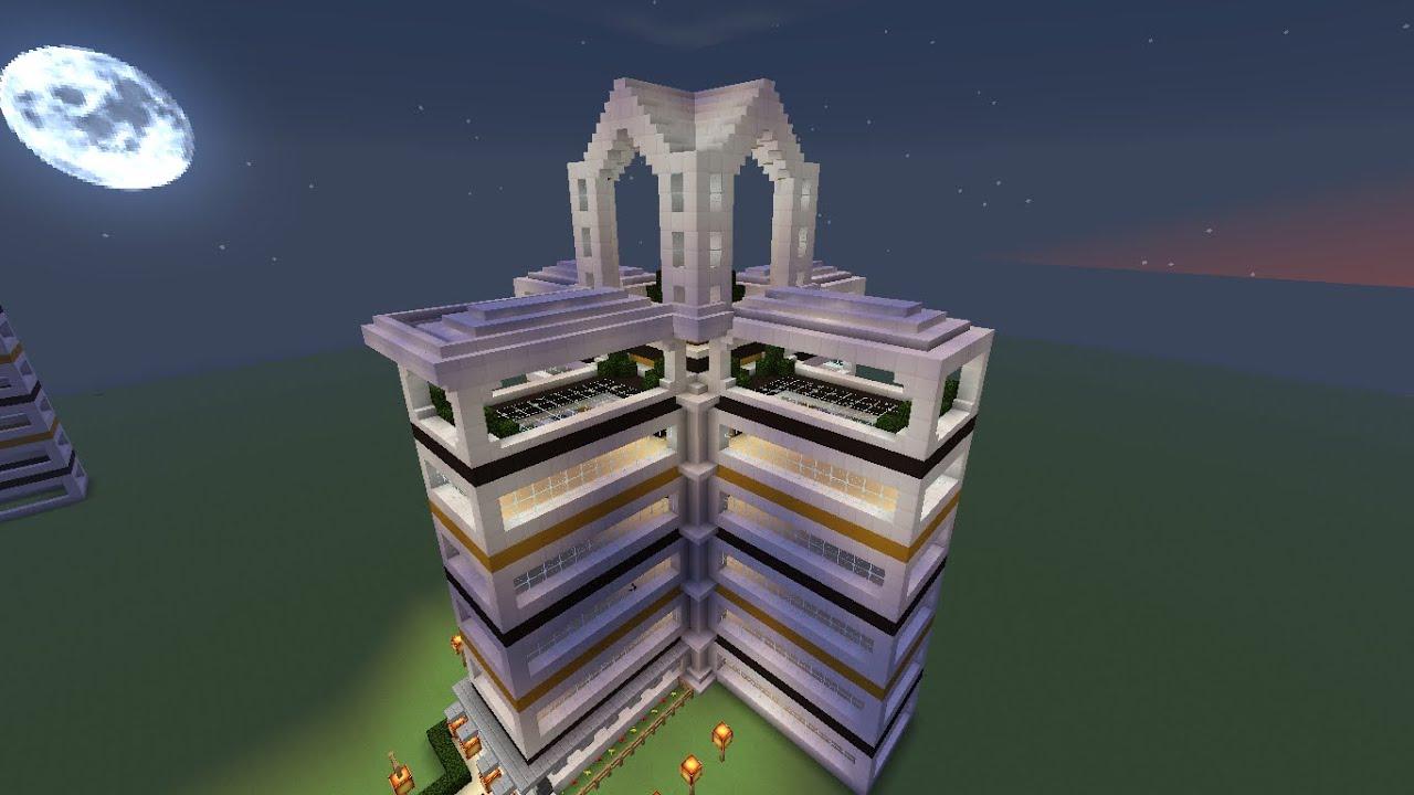 Tuto construction minecraft d\'un hotel de luxe parti: 1 - YouTube
