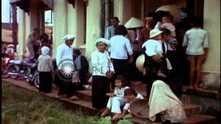 US Army provides aid and assistance to South Vietnamese people in support of Repu...HD Stock Footage