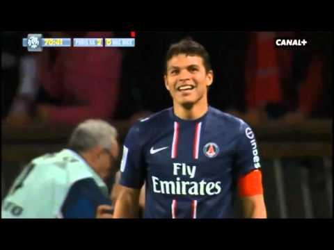 PSG-Nice 21/04/13 But Exceptionnelle de Thiago Silva refusé !