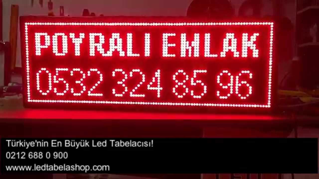 Emlak Tabelası Led Tabela Shop