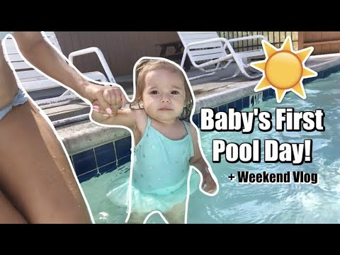 Baby's Reaction To The Pool! | +Weekend Vlog