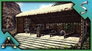 UTILITY DINO STORAGE AND SAFETY SHACK - Ark RAGNAROK DLC Gameplay S3E34