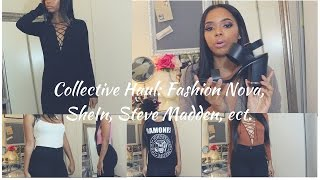 Huge Collective Clothing + Try On Haul: Fashion Nova, SheIn, Steve Madden,ect.