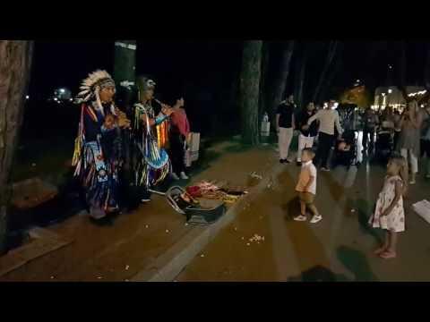 Индейцы  Набережная  Черногория музыка  ДУДКА Indians Quay Montenegro Music DUDKA