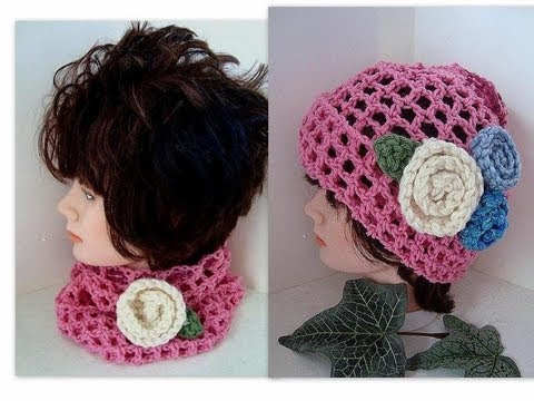 Crochet Patterns Youtube Hats : ... HAT OR COWL, Easy beginner crochet pattern, baby to adult - YouTube