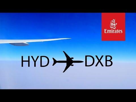Emirates HYD-DXB B777-300ER 2017
