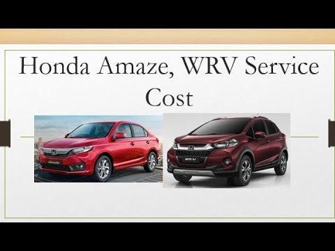 Honda Amaze 2018 Wrv Service Schedule Maintenance Cost Warranty
