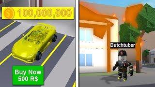 DEZE AUTO KOST 100 MILJOEN! (ROBLOX FIRE FIGHTER)