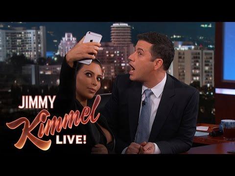 Kim Kardashian West Teaches Jimmy Kimmel How To Take a Selfie