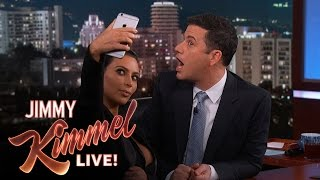 Kim Kardashian West Teaches Jimmy Kimmel How To Take a Selfie