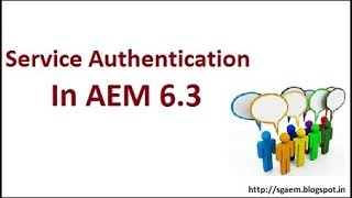 Sling:service Authentication In Aem 6.3