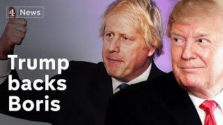 Trump backs Boris Johnson for Tory leader