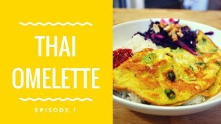 Thai Omelette(Khai Jiao) Recipe- Crispy Green Onion Omelette