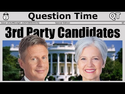 THIRD PARTY CANDIDATES - Gary Johnson, Jill Stein, and Wasted Votes