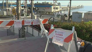 Coronavirus: Orange County Beaches Packed As Heat Wave Descends On SoCal