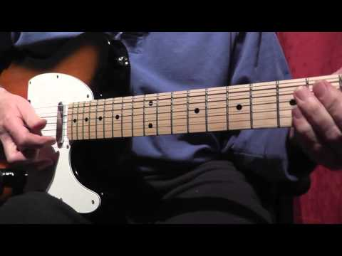 How to play Lionel Richie's Hello Guitar Solo in Am - Tutorial - with backing track