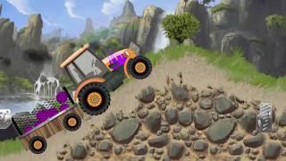 мультик про трактор — гонки на тракторе — игра как мультик для детей