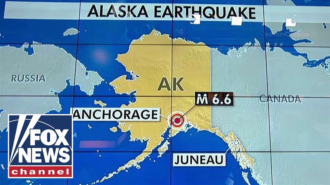Tsunami warning after earthquake near Anchorage, Alaska - YouTube