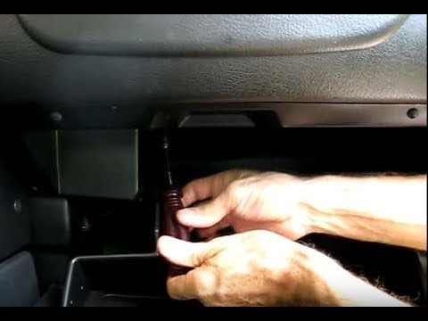 mitsubishi eclipse fuse box on glove box removal youtube