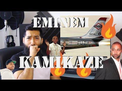 "EMINEM ""KAMIKAZE"" FIRST REACTION AND REVIEW (PROD. EMINEM & DR. DRE) #beardedkingface"