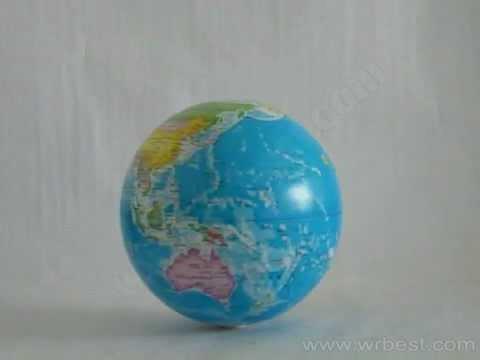 Magic turning globe display