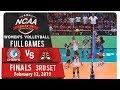 NCAA 94 WV Finals Game 3: AU vs. UPHSD | Full Game | 3rd Set | February 12, 2019