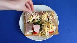 Рецепт приготовления горячих бутербродов с грудинкой в микроволновой печи VITEK VT-1654 W