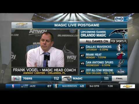 Frank Vogel -- Orlando Magic vs. Philadelphia 76ers 02/09/2017