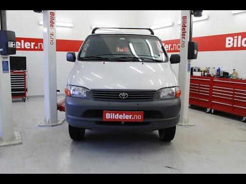 Toyota Hiace: Hvordan bytte registerreim, 2.5 diesel -  1996 til 2006 mod.