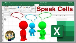Using the Speak Cells on Enter Tool in Excel - Tutorial 2018