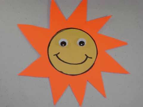 Como hacer un sol con papel de construccin o cartulina