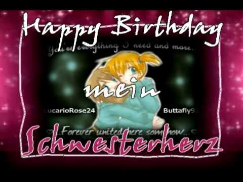 Happy Birthday Schwesterherz A Little Dedication To